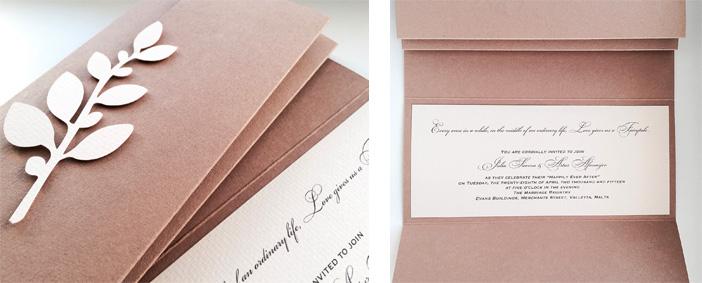 Свадебное приглашение, дизайн